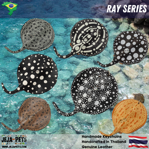 Ray Series Genuine Leather Handmade Keychains