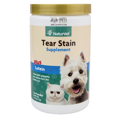 NaturVet Tear Stain Supplement Powder Plus Lutein - 200g