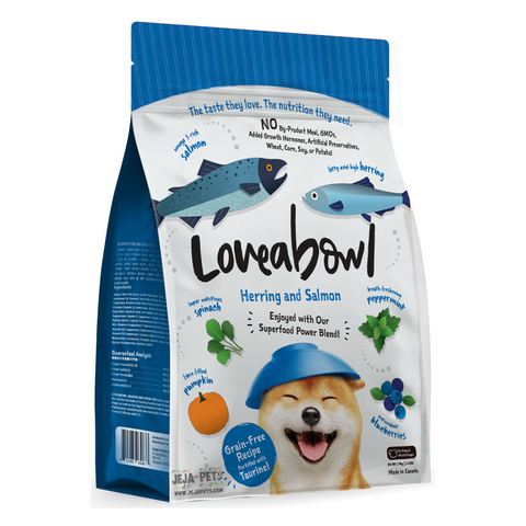 Loveabowl Herring and Salmon for Dogs 250g / 1.4kg / 4.5kg / 10kg