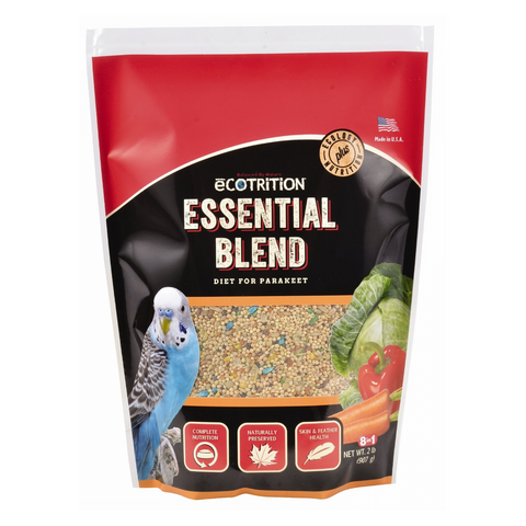 Ecotrition Essential Blend Food for Parakeets - 907g