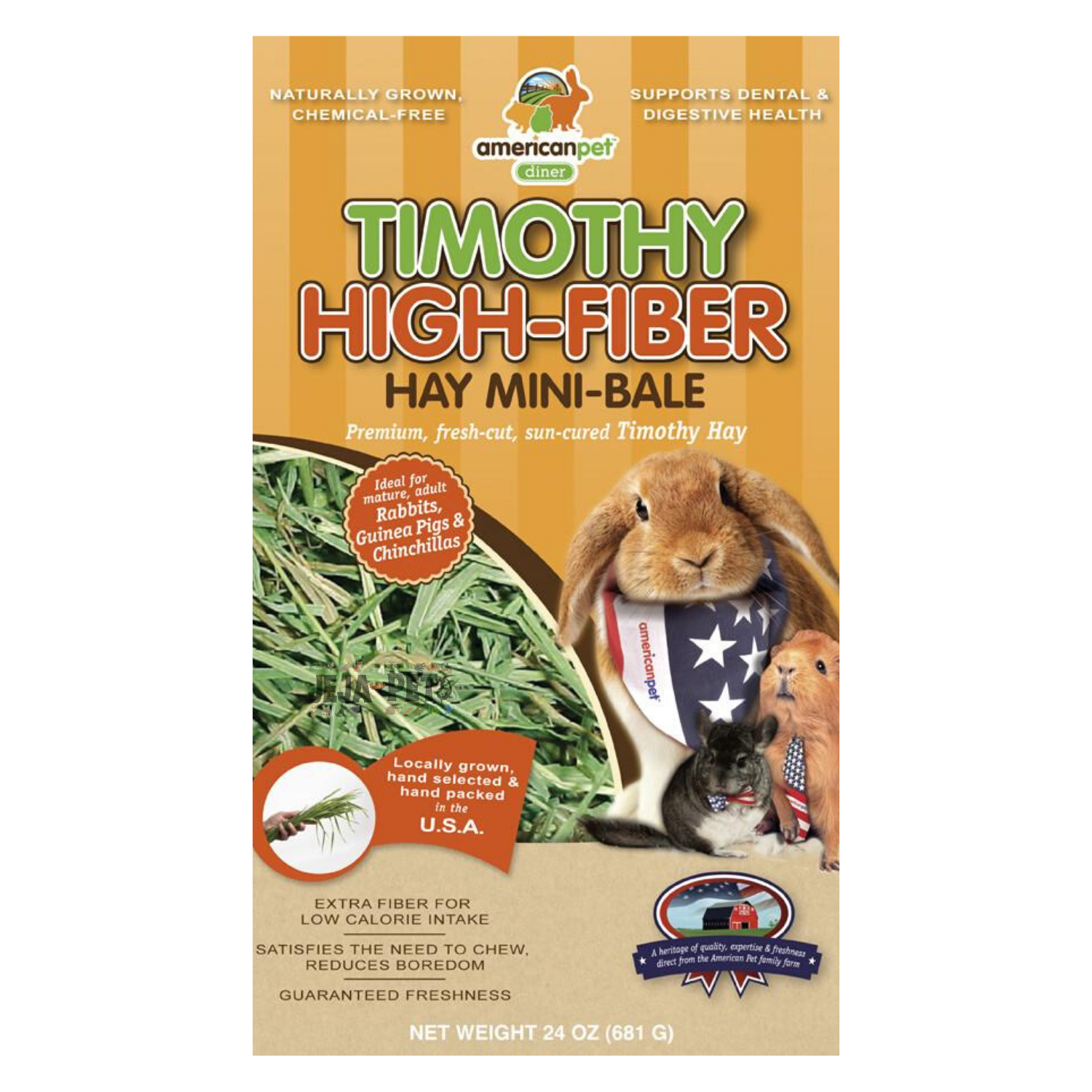 American Pet Diner Timothy High-Fibre Hay - 680g / 2.27kg