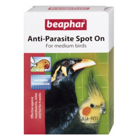 Beaphar Anti-Parasite Spot-On for Medium Birds (Parakeet/Mynah) - 2 vials