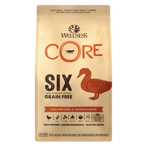 Wellness CORE SIX (Cage Free Duck & Chickpeas Receipe) - 1.81kg / 9.98kg