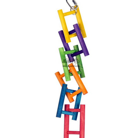 Duvo+ Colorful Wooden Bird Ladder - 40 x 6 cm