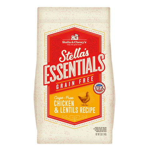 Stella & Chewy's Stella's Essentials Grain Free (Cage Free Chicken and Lentils) - 1.36kg / 11.34kg
