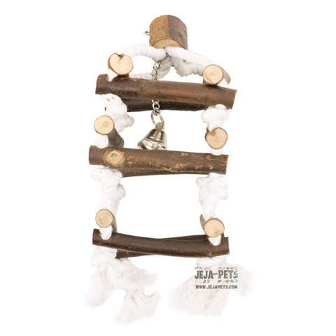 Duvo+ Wooden Climb Tower with Rope - 15 x 20 cm