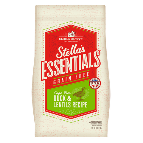 Stella & Chewy's Stella's Essentials Grain Free (Cage Free Duck and Lentils) - 1.36kg / 11.34kg