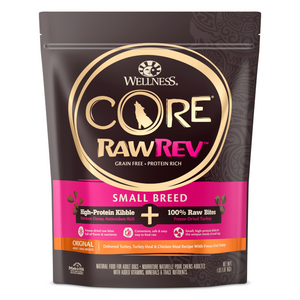 Wellness CORE RawRev Small Breed Original (Deboned Turkey, Turkey Meal & Chicken Meal + Freeze-Dried Turkey) - 1.81kg / 4.54kg