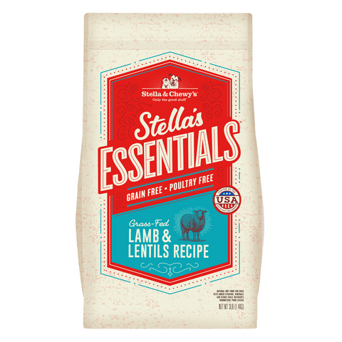 Stella & Chewy's Stella's Essentials Grain Free (Grass Fed Lamb and Lentils) - 1.36kg / 11.34kg