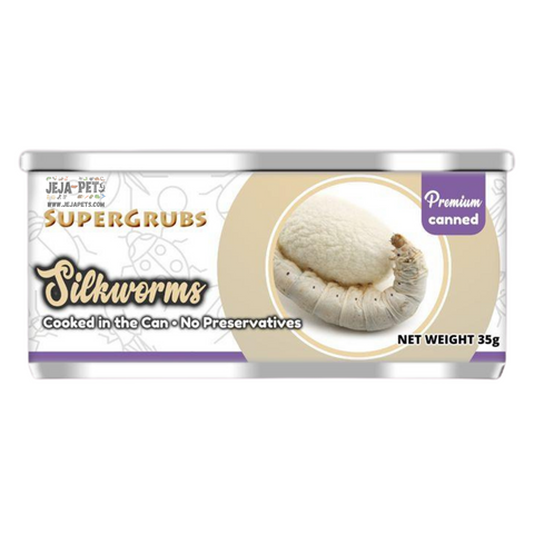 Supergrubs Canned Silkworms - 35g