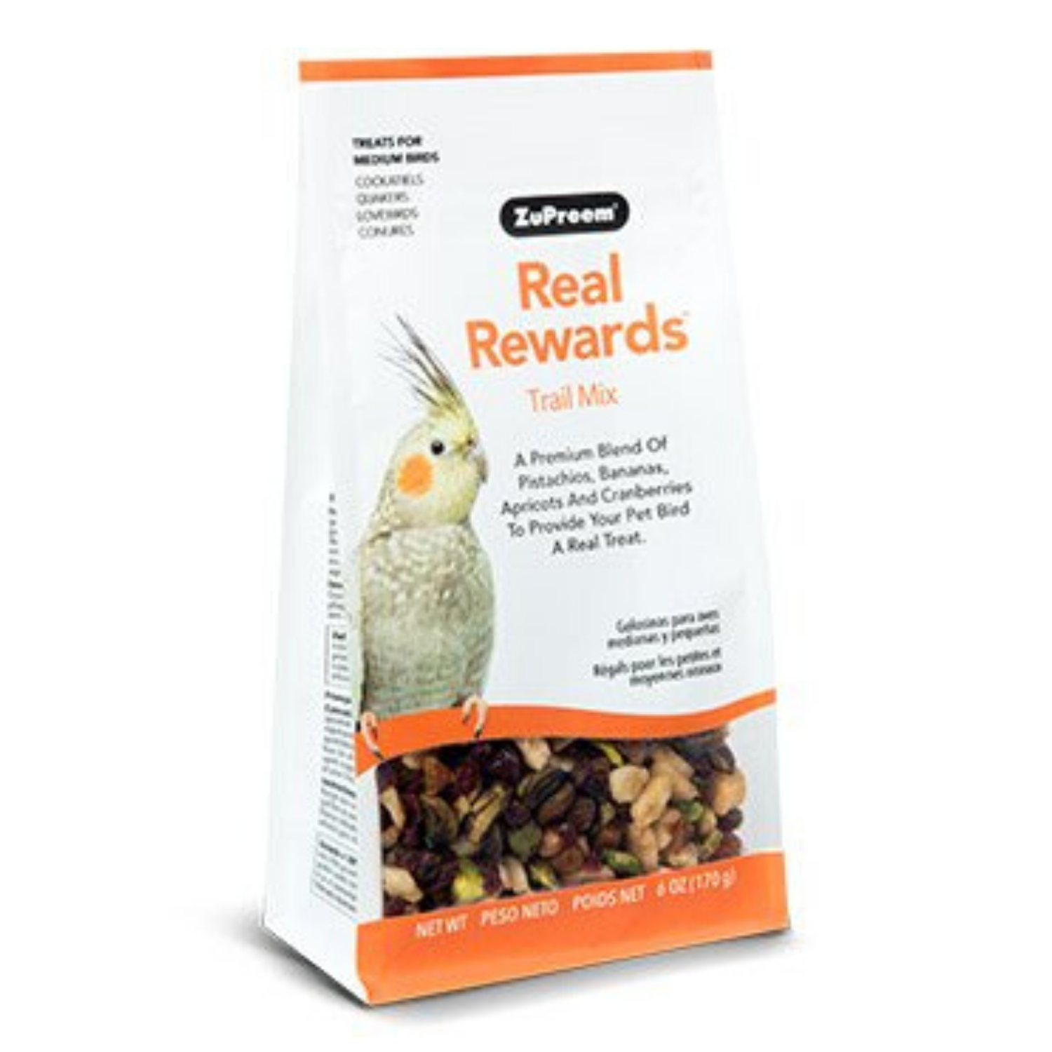 ZuPreem Real Rewards Trail Mix - Medium Birds - 170g