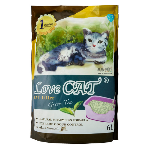 Love CAT Green Tea Tofu Cat Litter - 6L