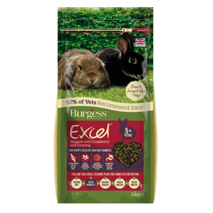 Burgess Excel Mature Rabbit with (Cranberry & Ginseng) - 2kg
