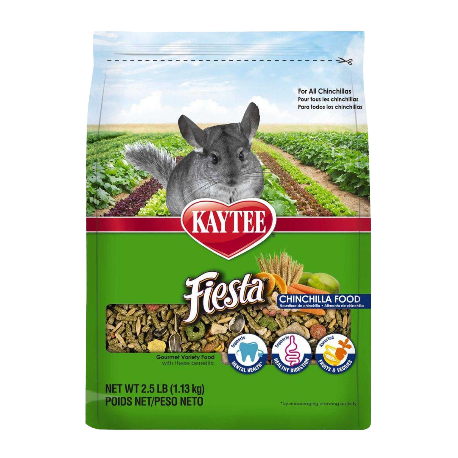 [DISCONTINUED] Kaytee Fiesta Max for Chinchilla - 1.13kg