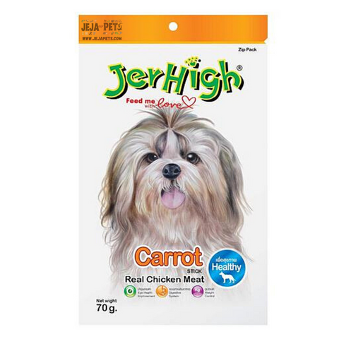 JerHigh Carrot Stick with Real Chicken Meat Dog Snack - 70g