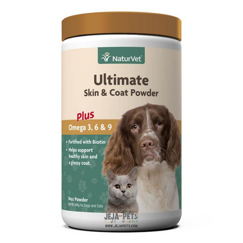 NaturVet Ultimate Skin & Coat Powder Plus Omega 3, 6 & 9 - 396g