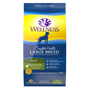 Wellness Complete Health for Large Breed Adult - (Deboned Chicken and Brown Rice Recipe) - 13.37kg