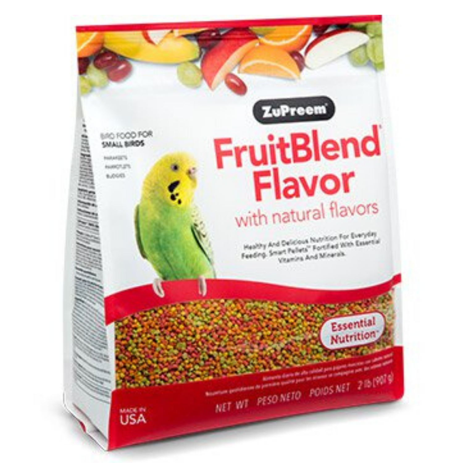 ZuPreem FruitBlend Flavour with Natural Flavors - Small Birds - 397g / 907g / 4.54kg