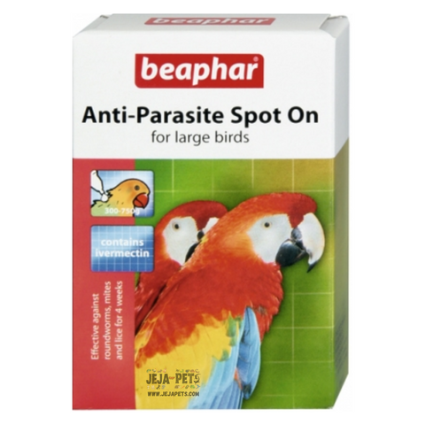 Beaphar Anti-Parasite Spot-On for Large Birds (Parrot) - 2 vials