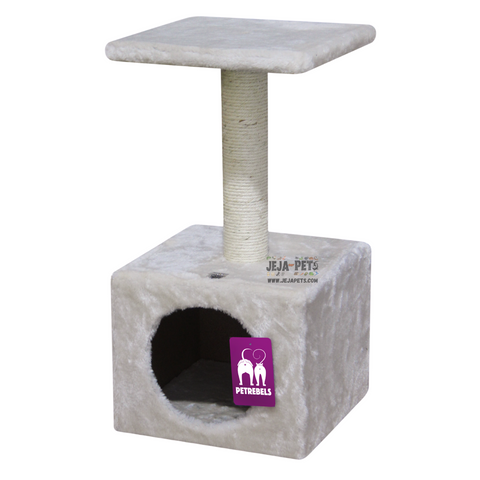 Petrebels Cheap Bastards Alanta 60 Cat Tree - Cream / Grey / Chocolate