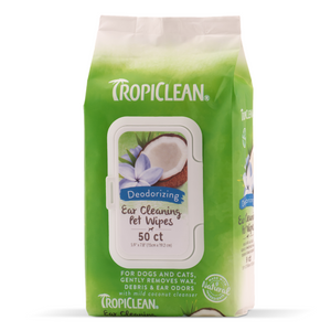 Tropiclean Ear Cleaning Pet Wipes - 50pcs