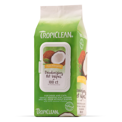 [DISCONTINUED] Tropiclean Hypoallergenic Pet Wipes - 100pcs