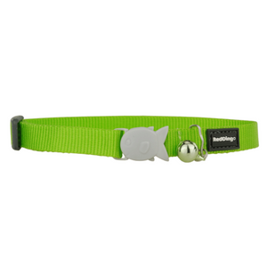 Red Dingo Cat Collars - Classic Range (Lime Green)