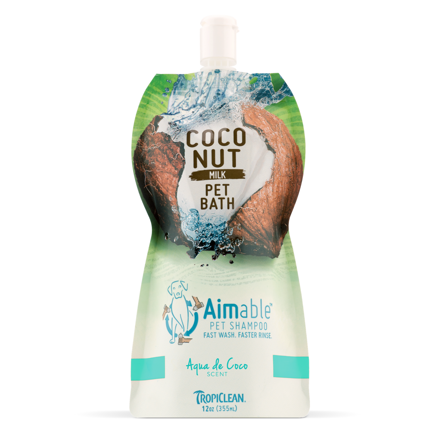 Tropiclean Aimable Coconut Milk Pet Bath Shampoo  (Aqua de Coco) - 355ml
