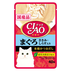 Ciao Creamy Soup Pouch Tuna Maguro & Chicken Fillet with Shirasu Topping - 40g
