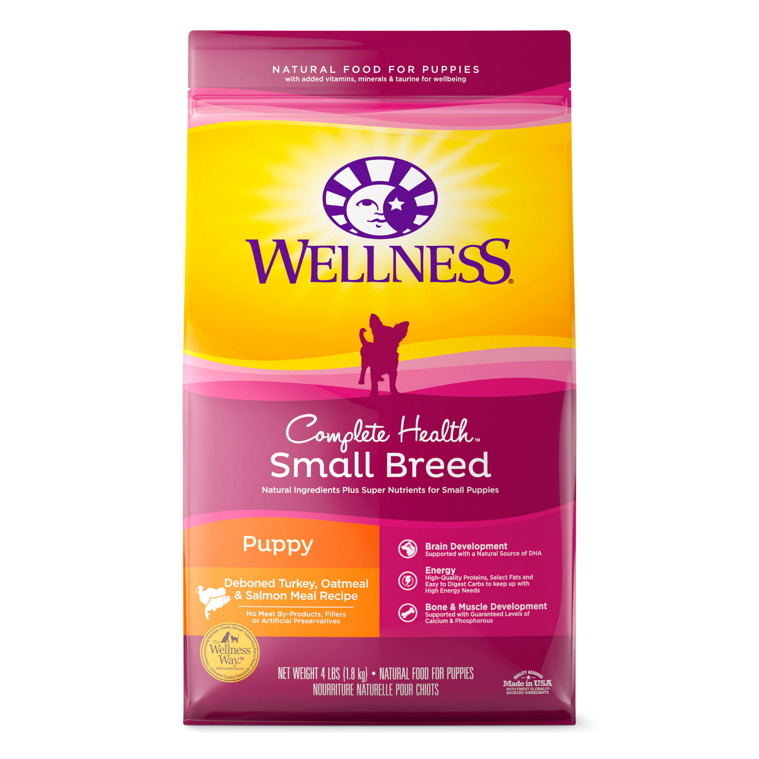 Wellness Complete Health for Small Breed Puppy - (Deboned Turkey, Oatmeal and Salmon) - 1.81kg