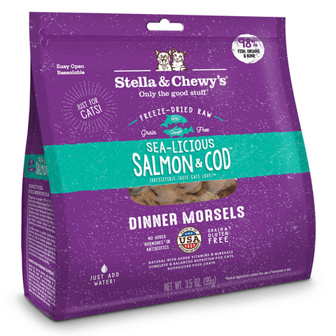 Stella & Chewy's Dinner Morsels (Sea-Licious Salmon and Cod) - 227g