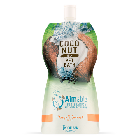 [DISCONTINUED] Tropiclean Aimable Coconut Milk Pet Bath Shampoo  (Mango & Coconut) - 355ml