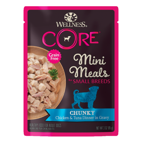 Wellness CORE for Small Breed Grain-Free Mini Meals (Chunky Chicken & Tuna)