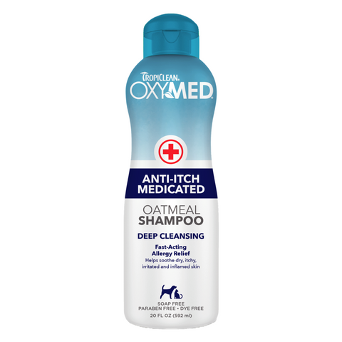 Tropiclean Oxymed Anti-Itch Medicated Oatmeal Shampoo - 591ml / 3.79L