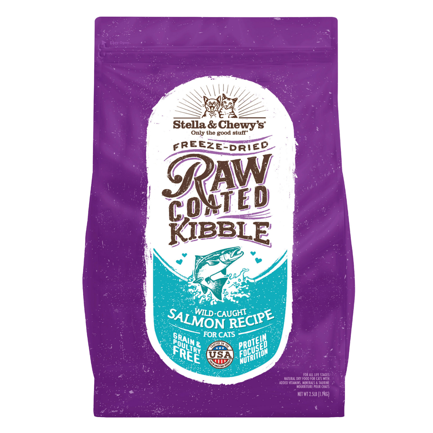 Stella & Chewy's Raw Coated Kibble (Wild Caught Salmon) - 2.27kg / 4.54kg