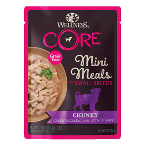 Wellness CORE for Small Breed Grain-Free Mini Meals (Chunky Chicken & Chicken Liver)
