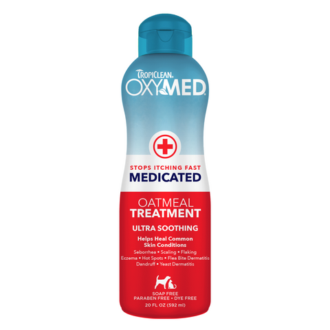 Tropiclean Oxymed Medicated Oatmeal Treatment - 591ml / 3.79L