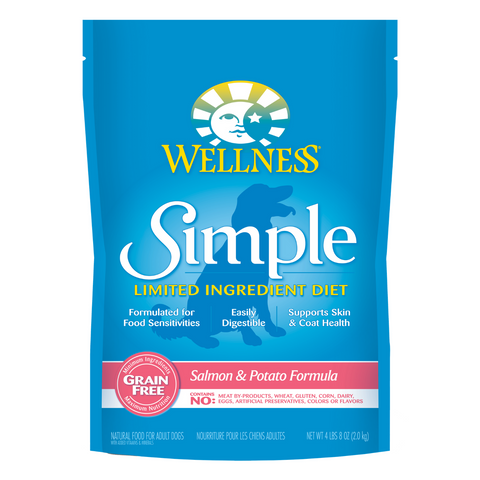 Wellness Simple Limited Ingredients Grain-Free (Salmon & Potato Recipe) - 2kg / 10.89kg