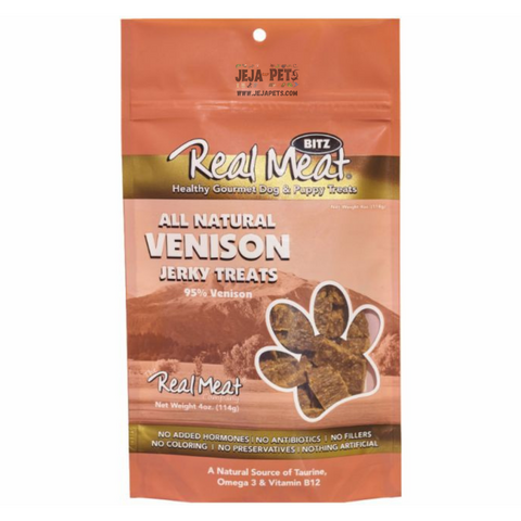 Real Meat Venison Jerky Treats for Dogs - 113g