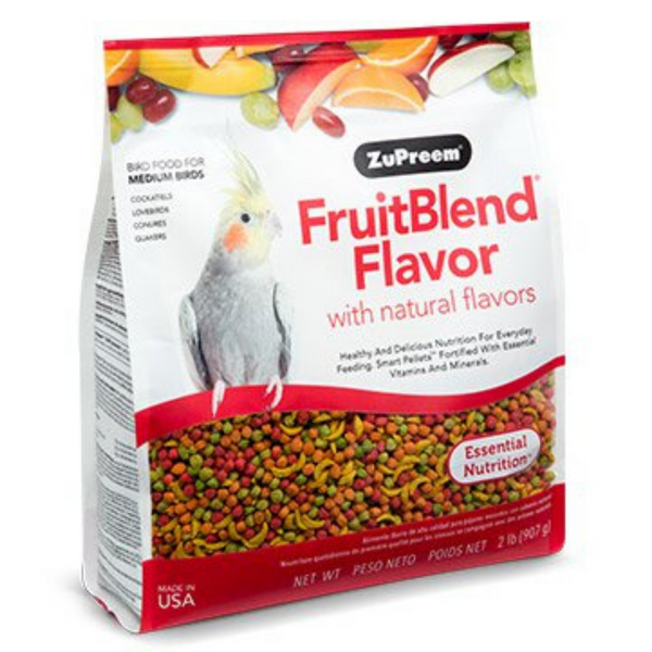 ZuPreem FruitBlend Flavour with Natural Flavors - Medium Birds - 200g / 397g / 907g / 7.94kg