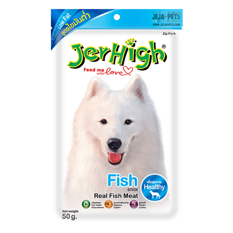 JerHigh Low Fat Fish Stick with Real Fish Meat Dog Snack - 50g
