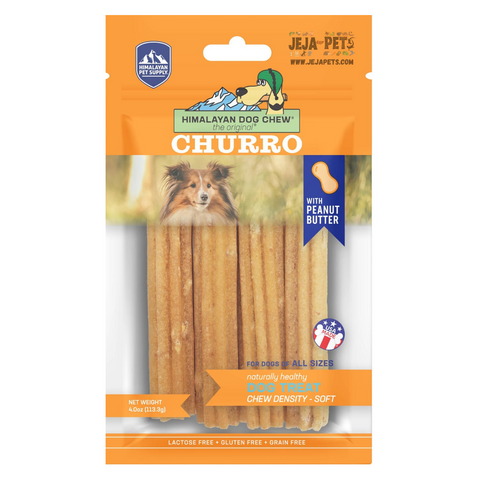Himalayan Pet Supply Churro Cheese with Peanut Butter Soft Density Dog Chew - 113.3g