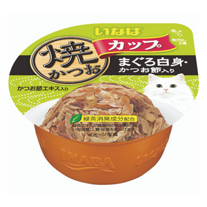 Ciao Grilled Skipjack Cup Grilled Tuna in Gravy with White Meat Tuna and Dried Bonito Topping - 80g