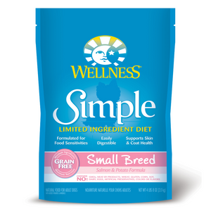 Wellness Simple Limited Ingredients Grain-Free for Small Breed (Salmon & Potato) - 10.89kg