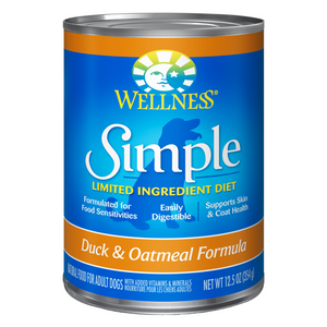Wellness Simple Limited Ingredients (Duck & Oatmeal) - 354g