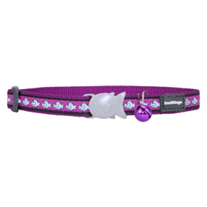 Red Dingo Cat Collars - Reflective Range (Purple)
