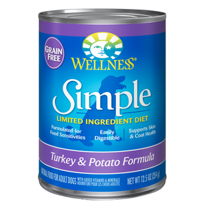 Wellness Simple Limited Ingredients Grain-Free (Turkey & Potato) - 354g