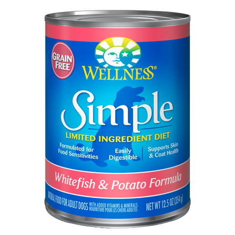 Wellness Simple Limited Ingredients Grain-Free (Whitefish & Potato) - 354g