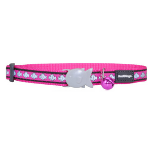Red Dingo Cat Collars - Reflective Range (Hot Pink)