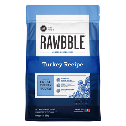BIXBI Rawbble Turkey Dry Dog Food - 1.81kg / 10.88kg